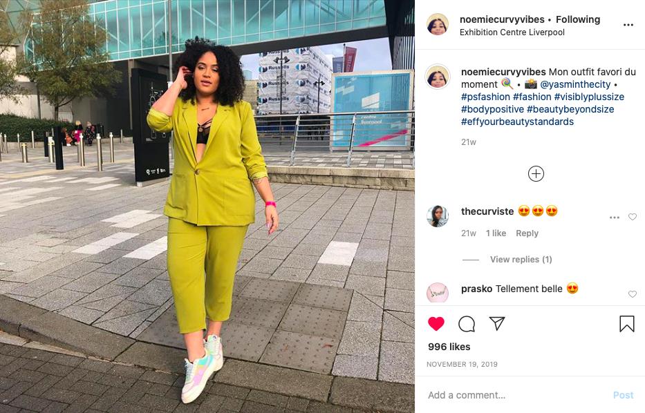 Noemiecurvyvibes top 5 influenceuses fashion