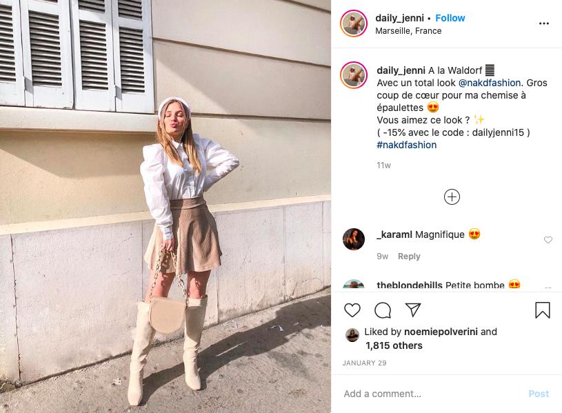 Daily_jenni top 5 influenceuses fashion mode
