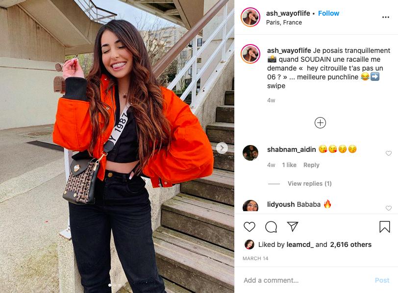 Ash_wayoflife top 5 influenceuses fashion