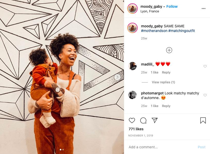 Moody Gaby maman influenceuse