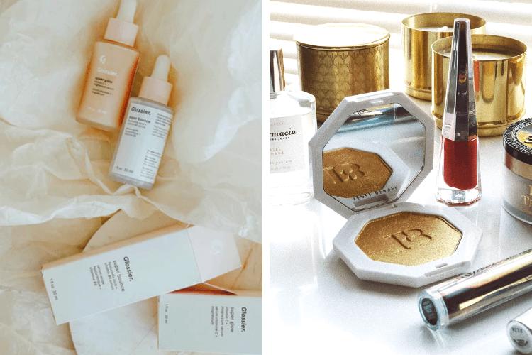 glossier fenty beauty influenceuses marque cosmétique beauté