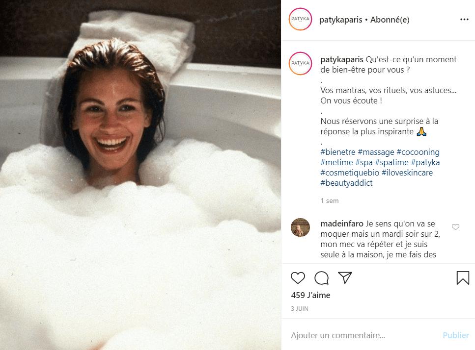 utilisation hashtags sur instagram exemple patyka
