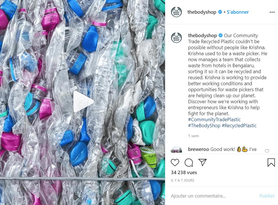 the body shop instagram recyclage hashtag sur instagram comment les utiliser