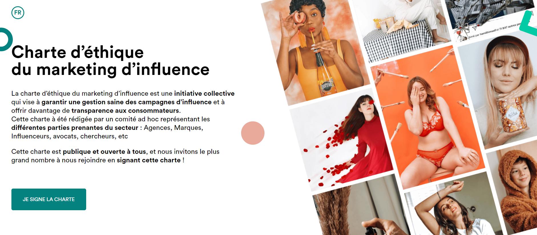 charte ethique influenceurs entreprises marques marketing d influence